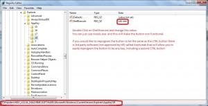 تغییر در ریجستری برای تغییر صفحه کلید اچ پی